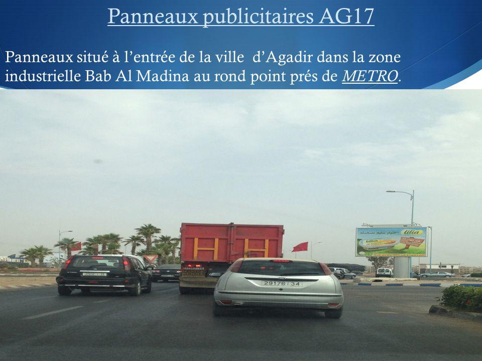 Panneaux publicitaires AG17