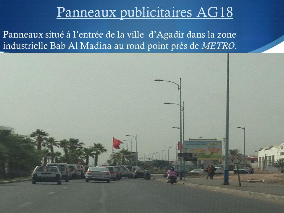 Panneaux publicitaires AG18