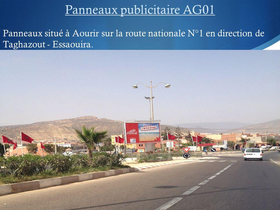 Panneaux publicitaire AG01