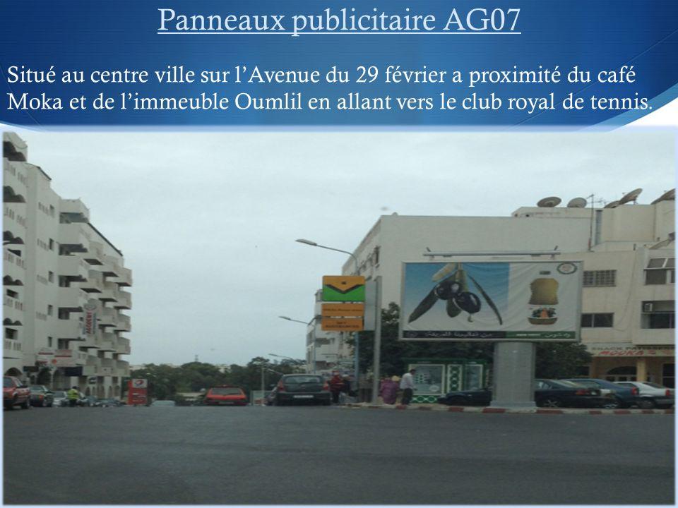 Panneaux publicitaire AG07
