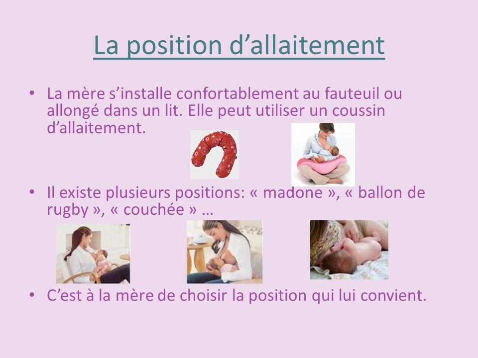 La position d'allaitement