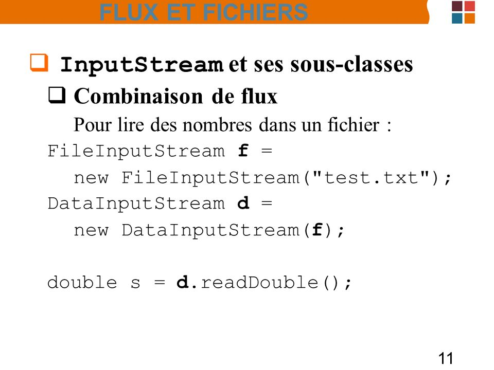 InputStream et ses sous-classes
