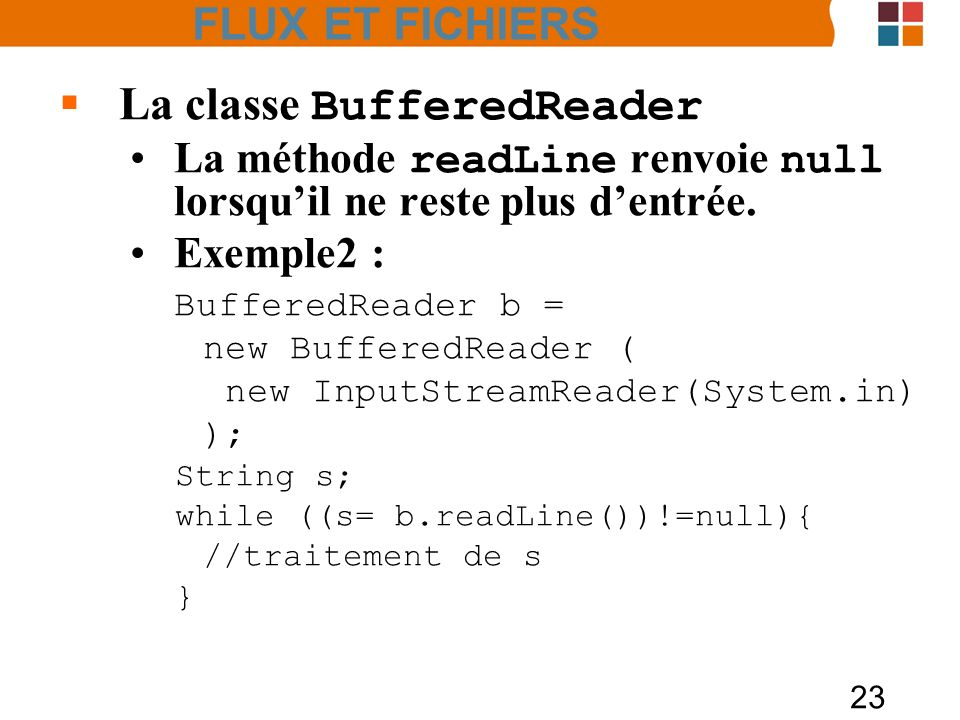 La classe BufferedReader
