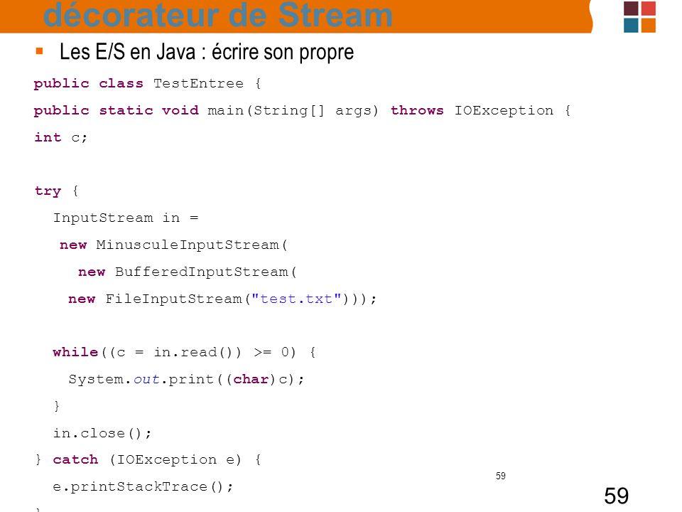 décorateur de Stream Les E/S en Java : écrire son propre