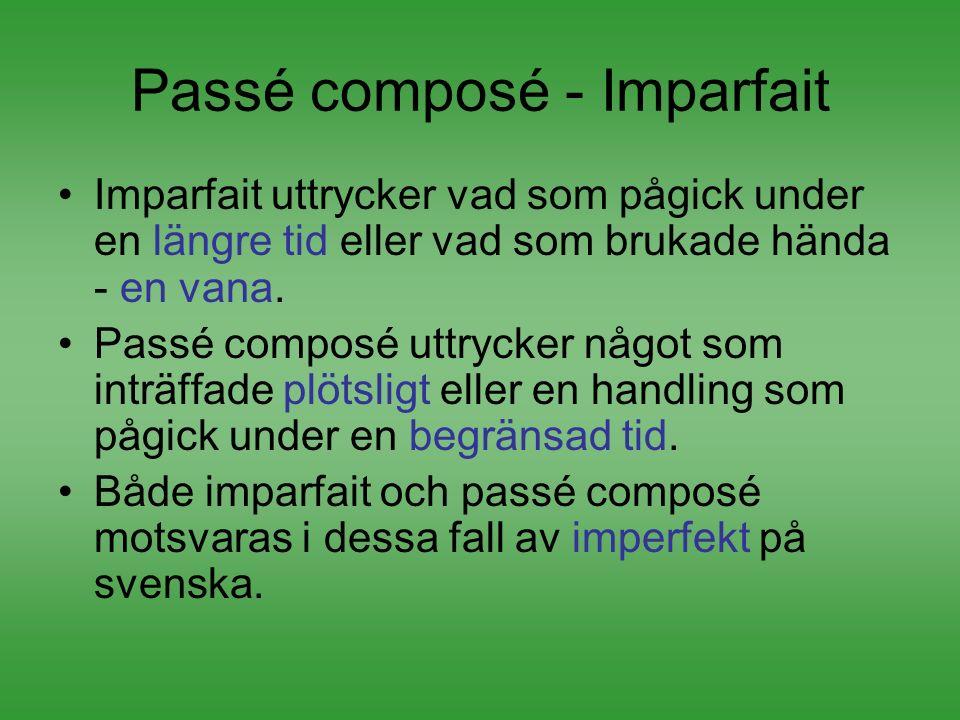 Passé composé - Imparfait