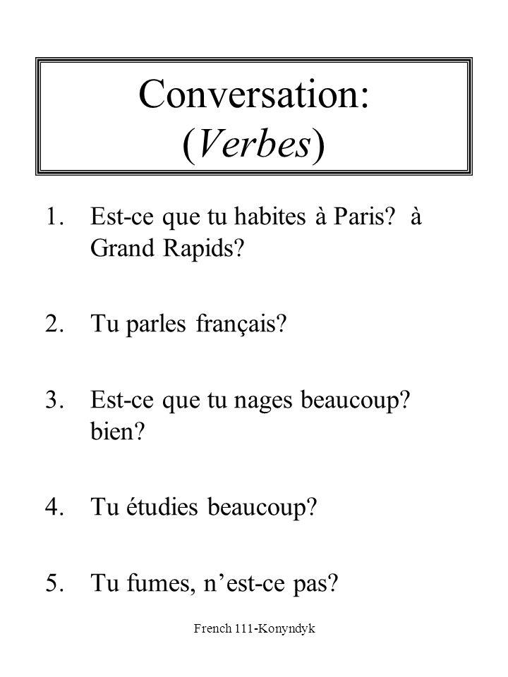 Conversation: (Verbes)