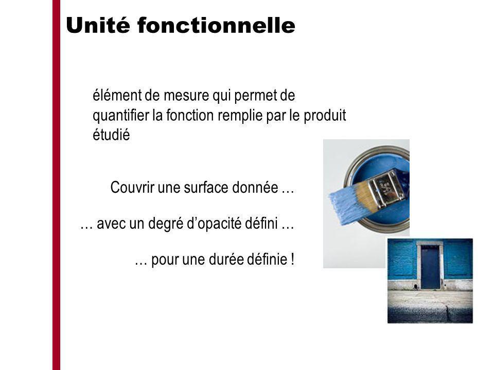 Unité fonctionnelle élément de mesure qui permet de quantifier la fonction remplie par le produit étudié.
