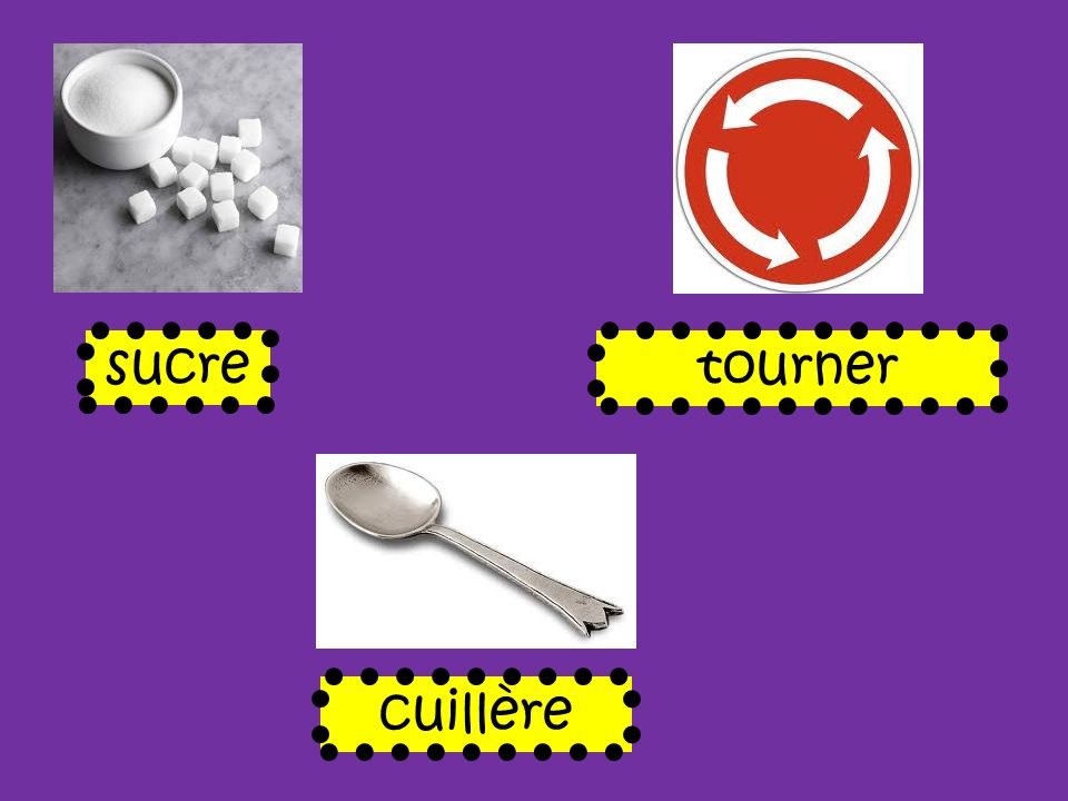 sucre tourner cuillère