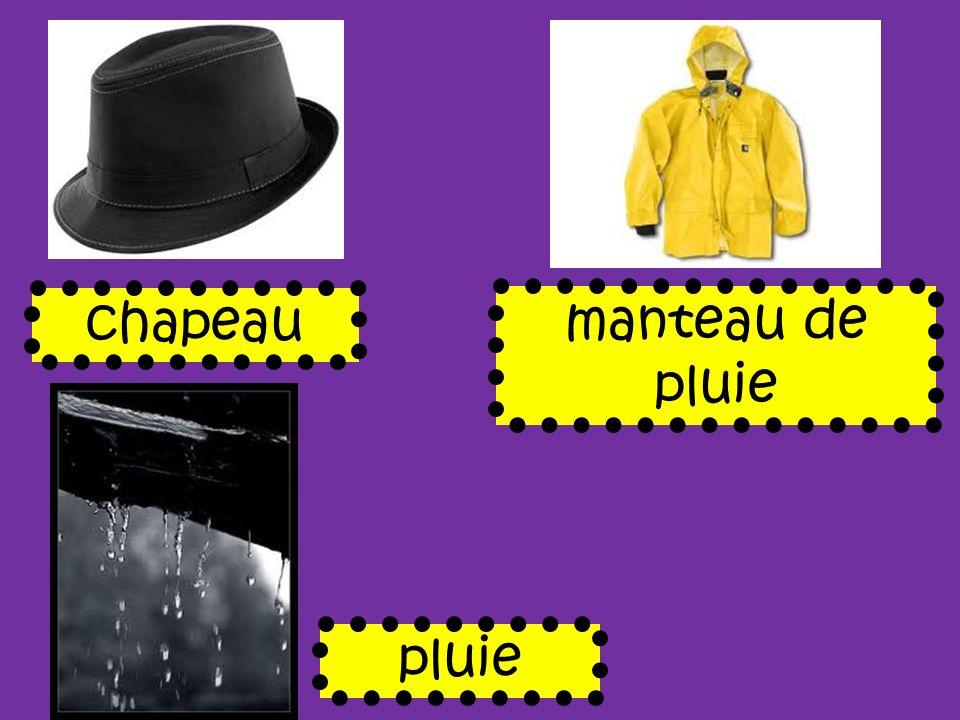 chapeau manteau de pluie pluie