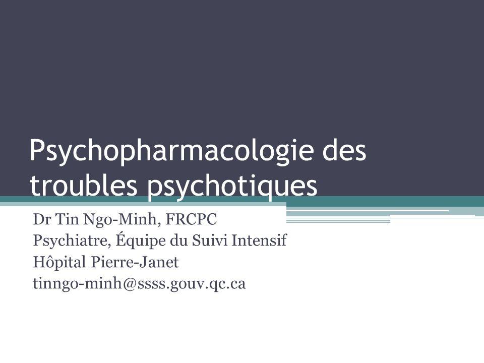 Psychopharmacologie des troubles psychotiques
