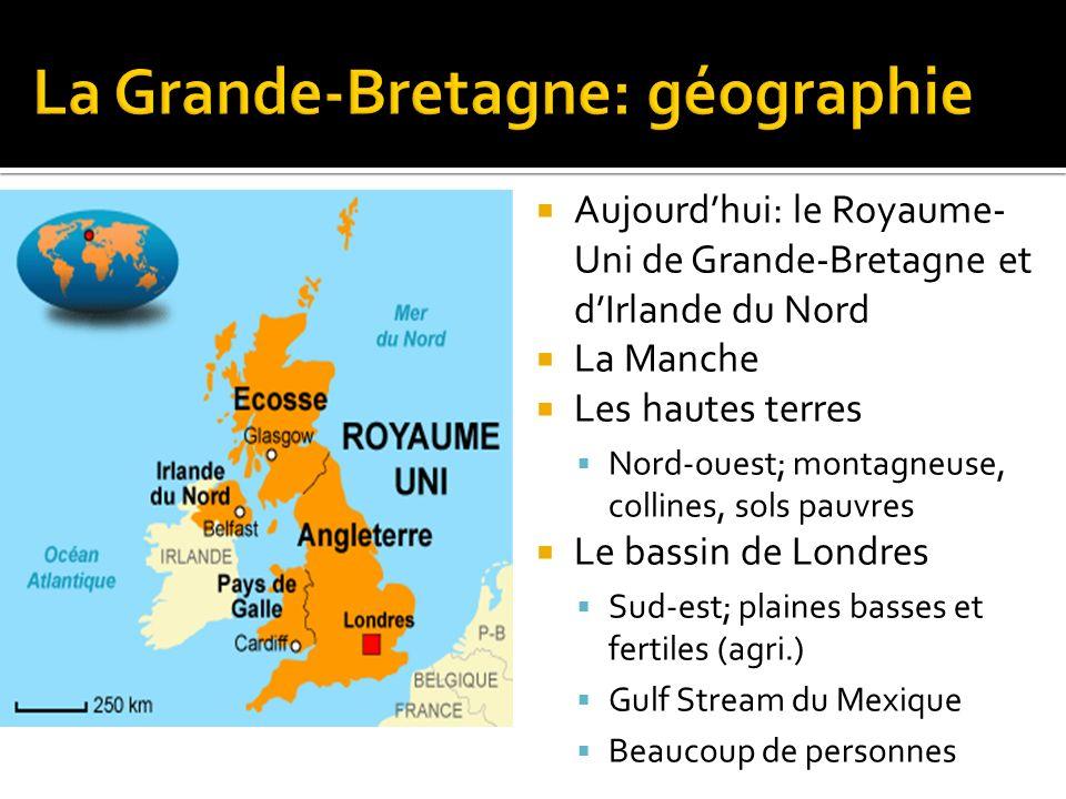 La Grande-Bretagne: géographie
