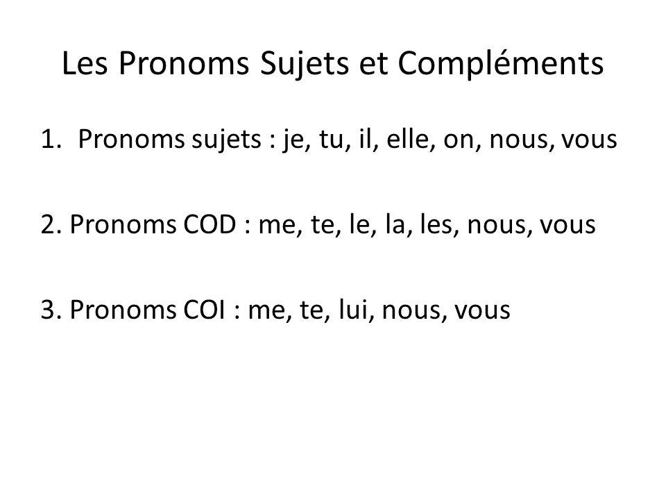 Les Pronoms Sujets et Compléments