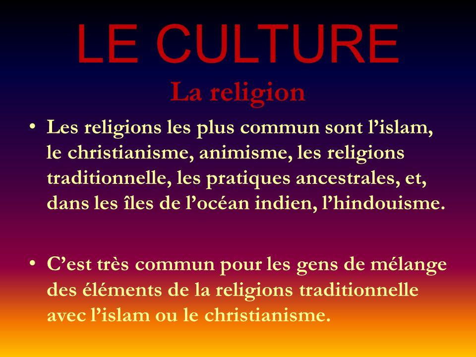 LE CULTURE La religion.