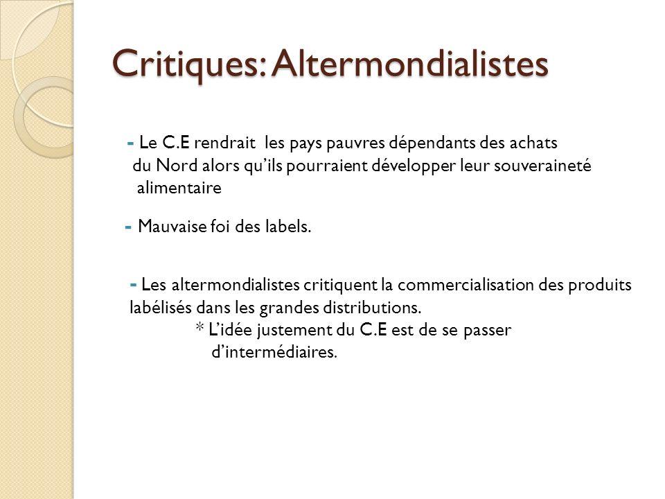 Critiques: Altermondialistes