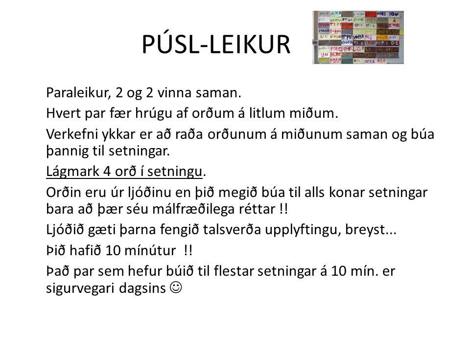 PÚSL-LEIKUR