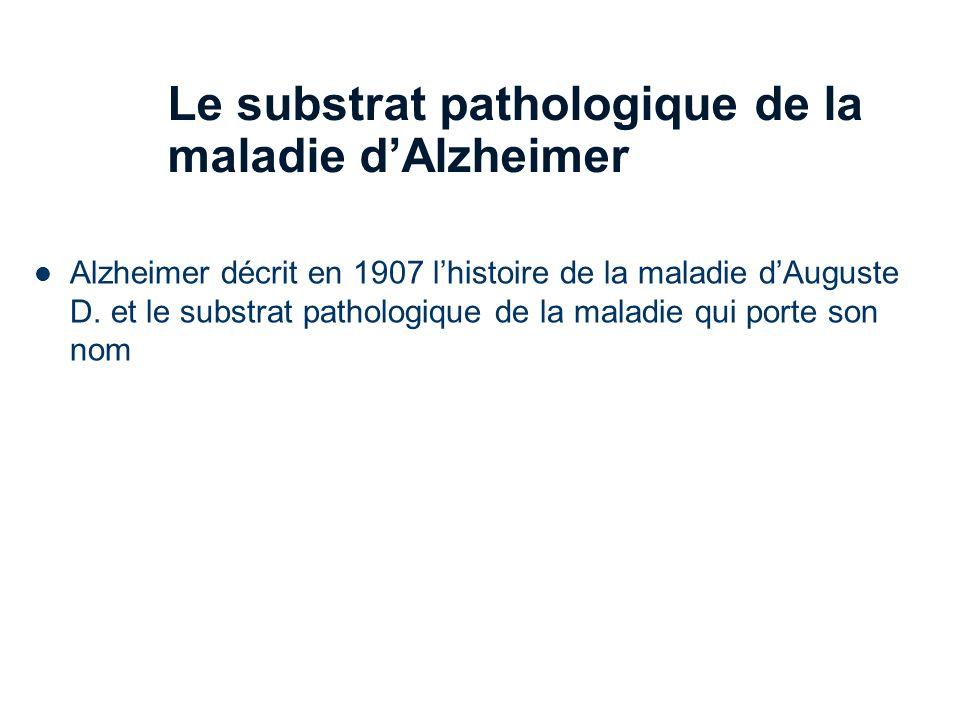 Le substrat pathologique de la maladie d'Alzheimer