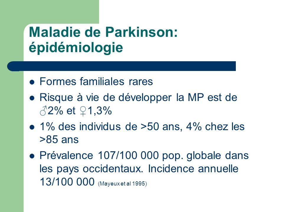Maladie de Parkinson: épidémiologie