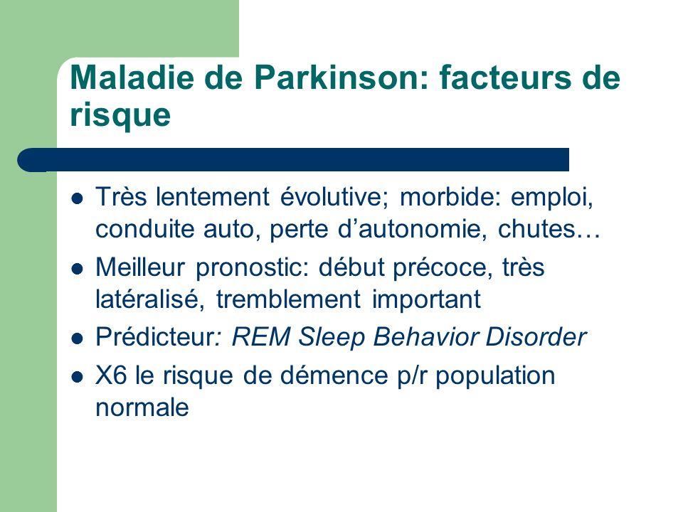 Maladie de Parkinson: facteurs de risque