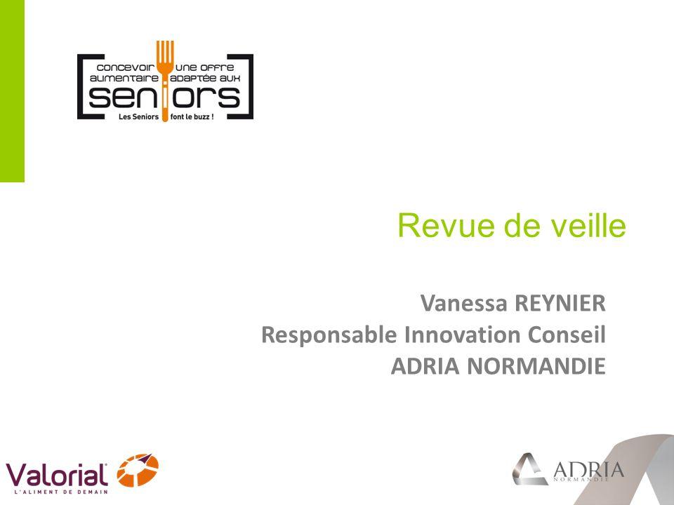 Revue de veille Vanessa REYNIER Responsable Innovation Conseil
