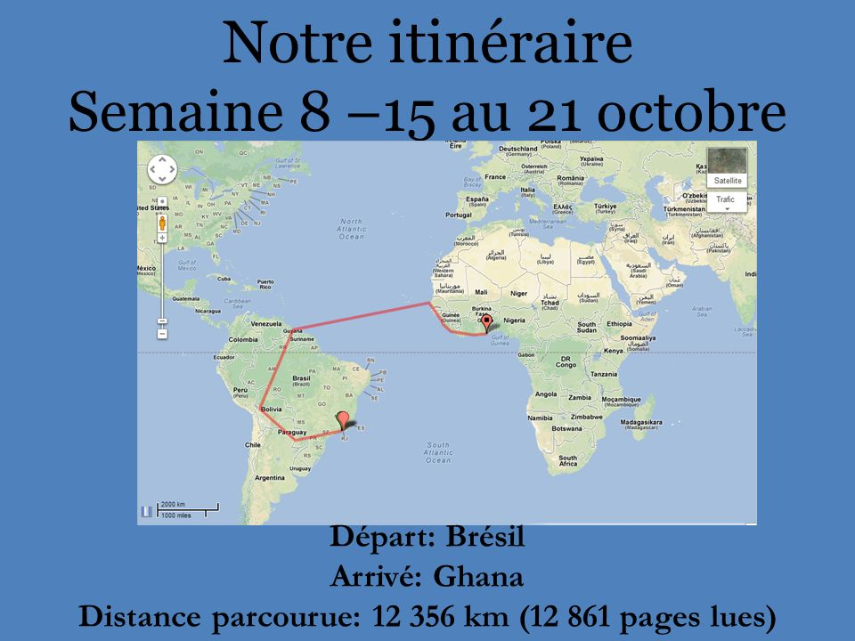 Distance parcourue: 12 356 km (12 861 pages lues)