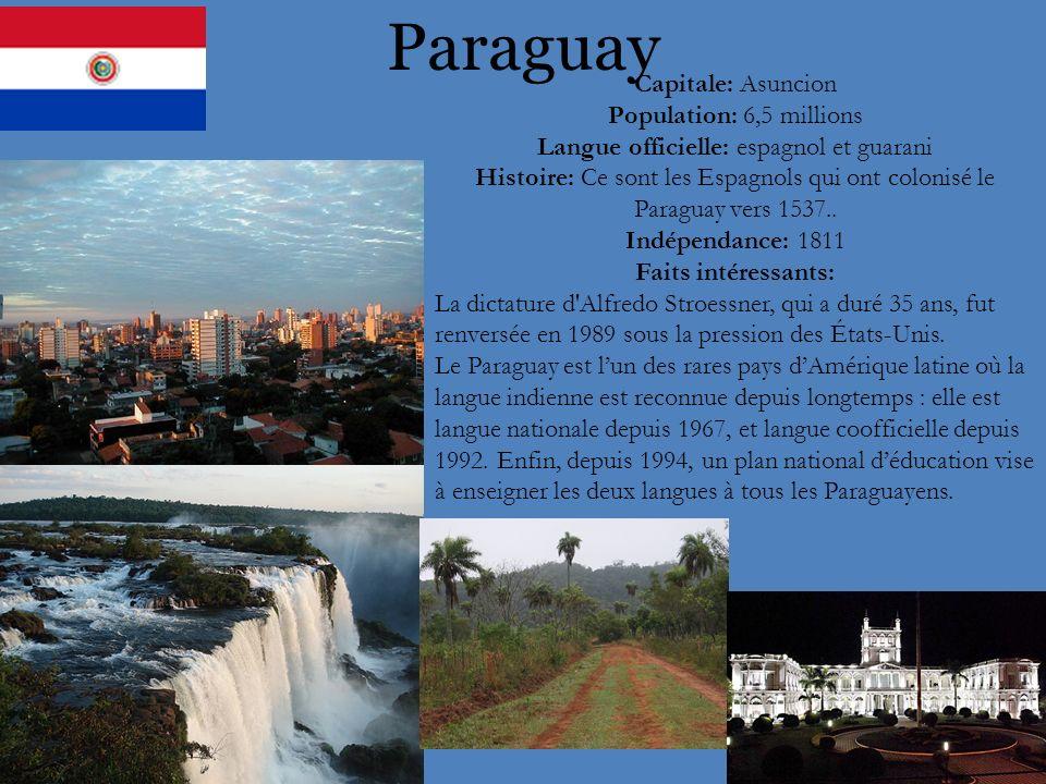 Langue officielle: espagnol et guarani