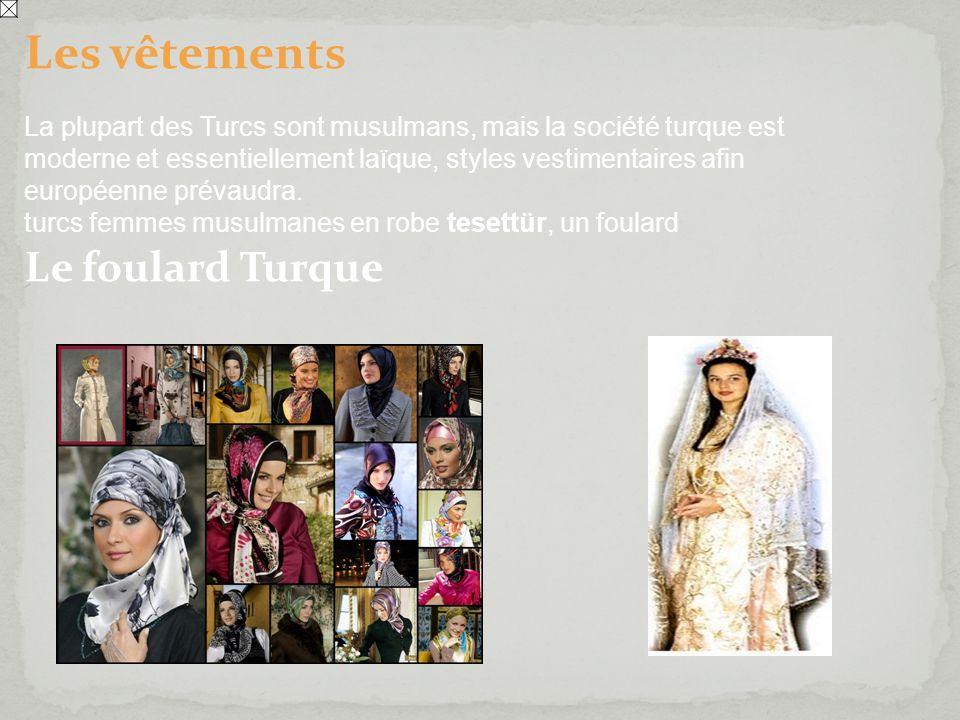 Les vêtements Le foulard Turque
