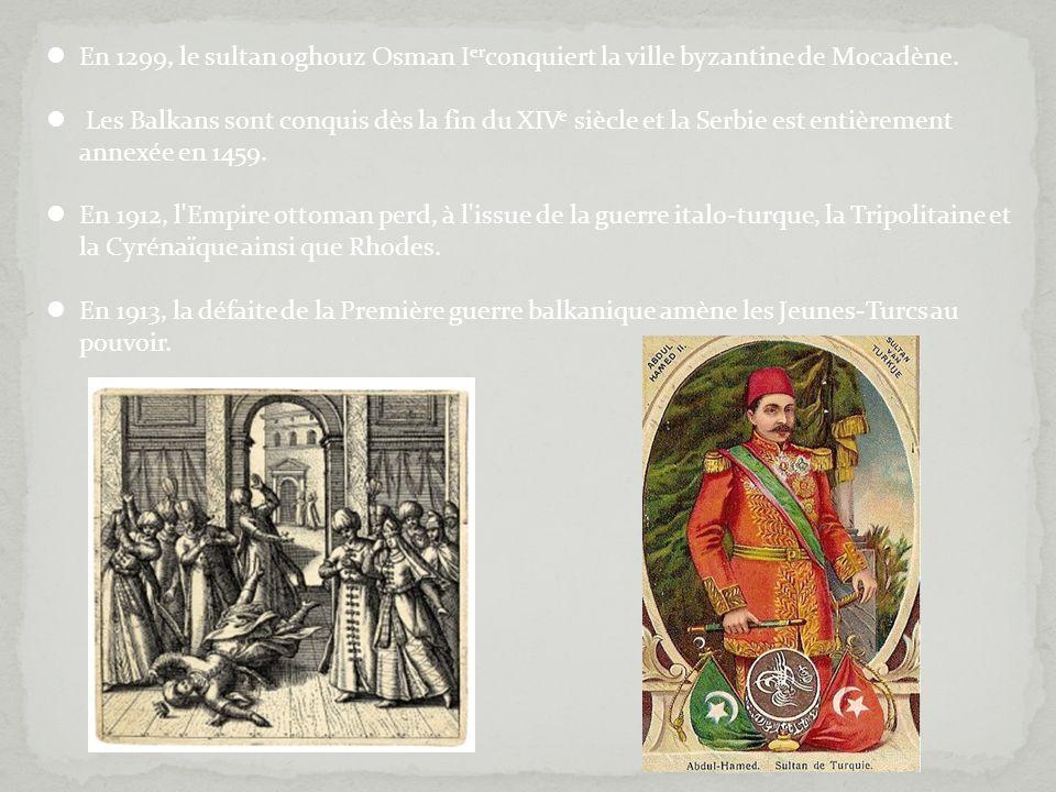 En 1299, le sultan oghouz Osman Ierconquiert la ville byzantine de Mocadène.