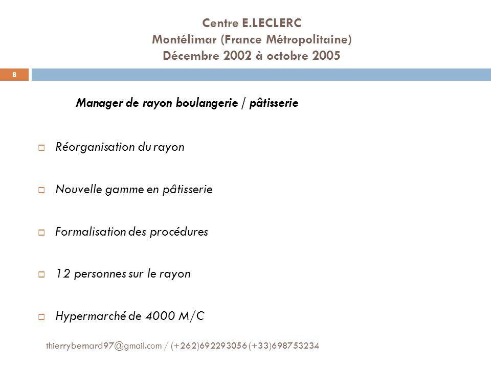 Manager de rayon boulangerie / pâtisserie