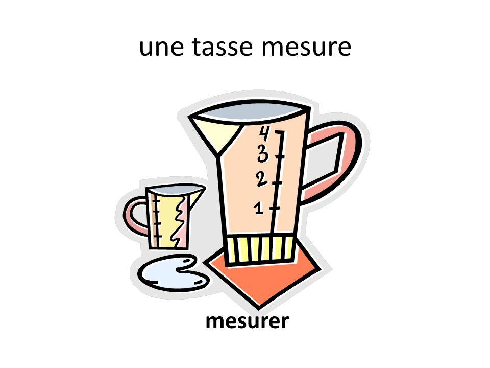 une tasse mesure mesurer