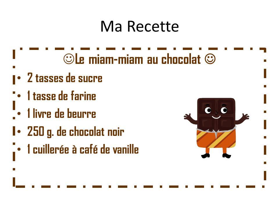 Le miam-miam au chocolat 
