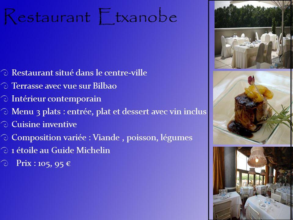 Restaurant Etxanobe Restaurant situé dans le centre-ville