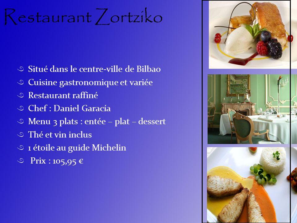 Restaurant Zortziko Situé dans le centre-ville de Bilbao