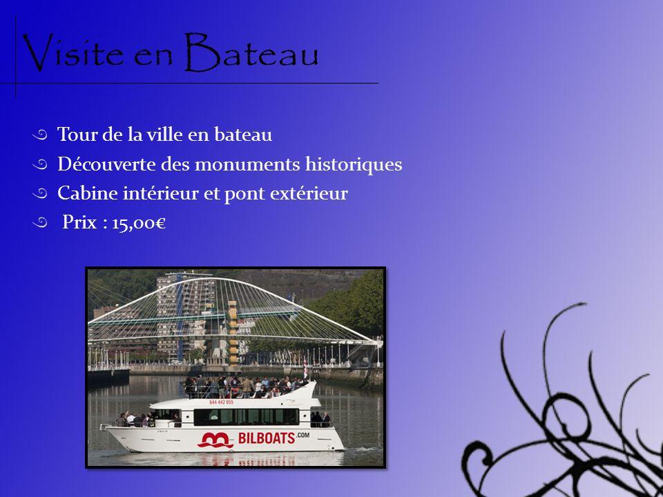 Visite en Bateau Tour de la ville en bateau