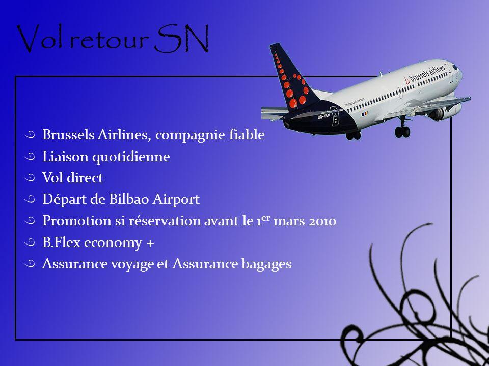 Vol retour SN Brussels Airlines, compagnie fiable Liaison quotidienne