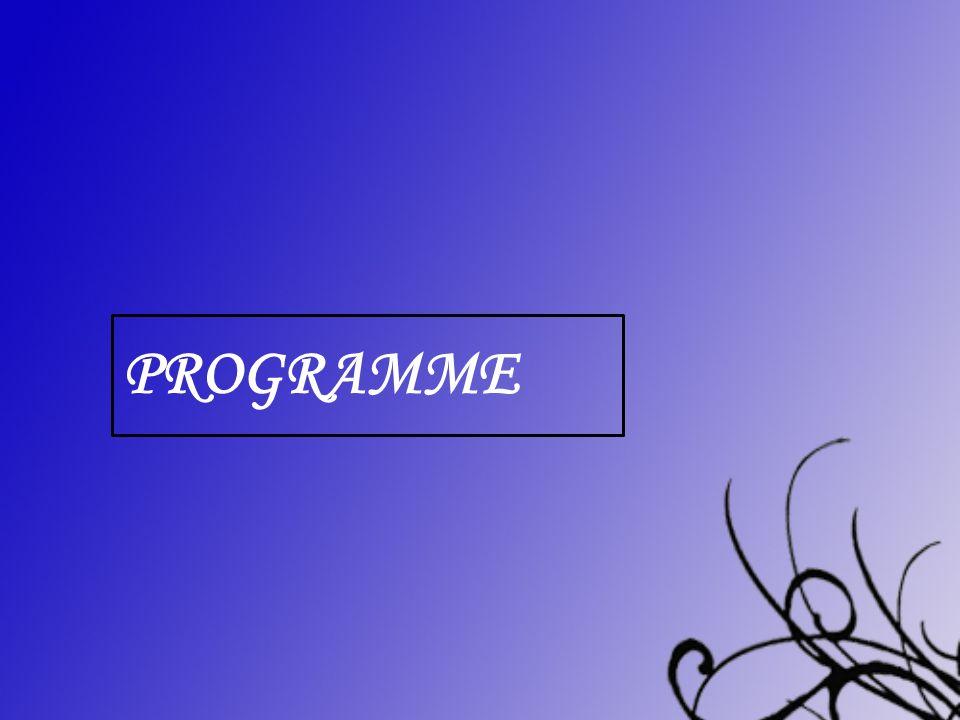 Programme Programme détaillé