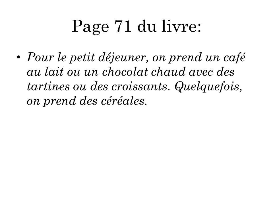 Page 71 du livre: