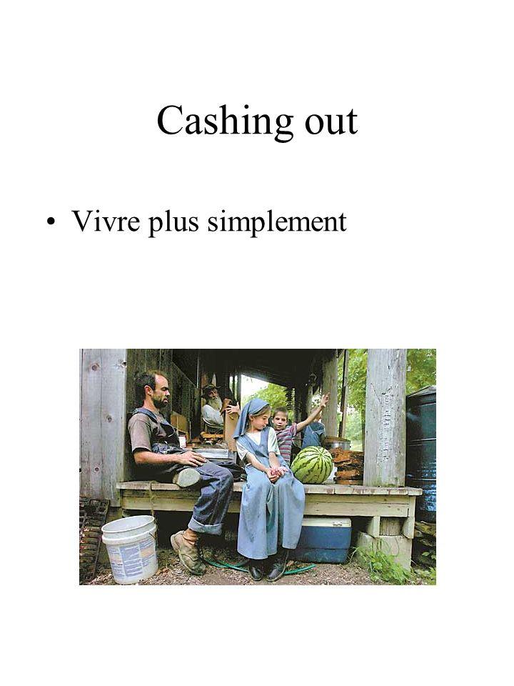 Cashing out Vivre plus simplement