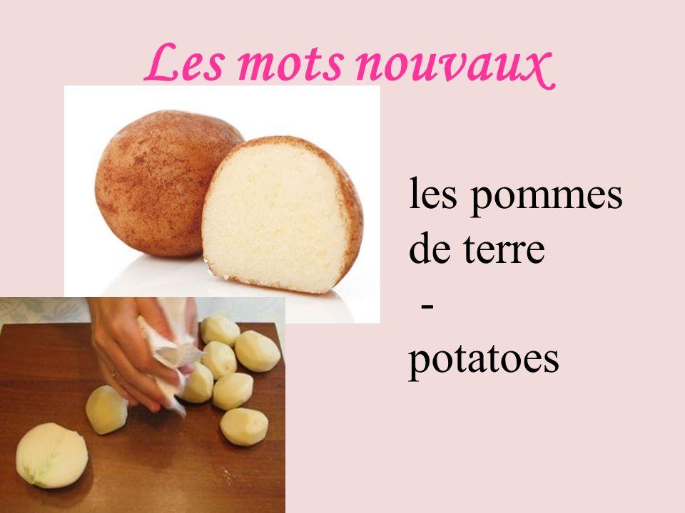 Les mots nouvaux les pommes de terre - potatoes