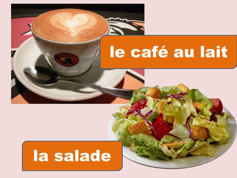 le café au lait la salade