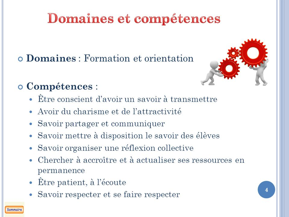 Domaines et compétences