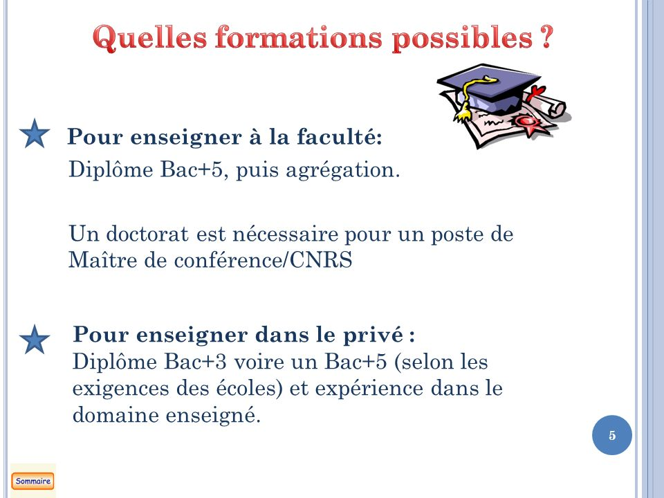 Quelles formations possibles