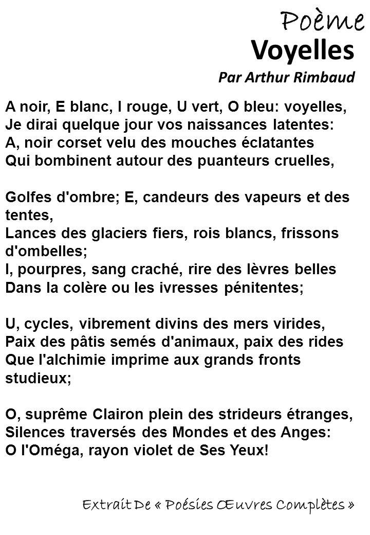 Voyelles Par Arthur Rimbaud