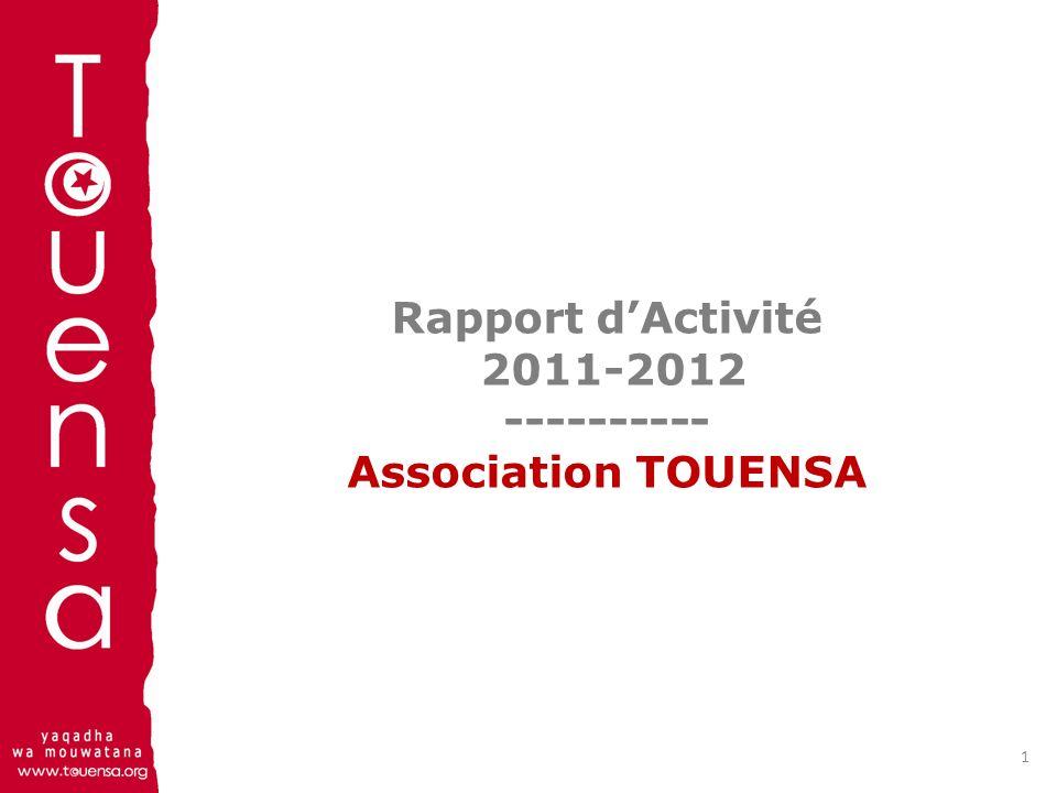 Rapport d'Activité 2011-2012 ---------- Association TOUENSA
