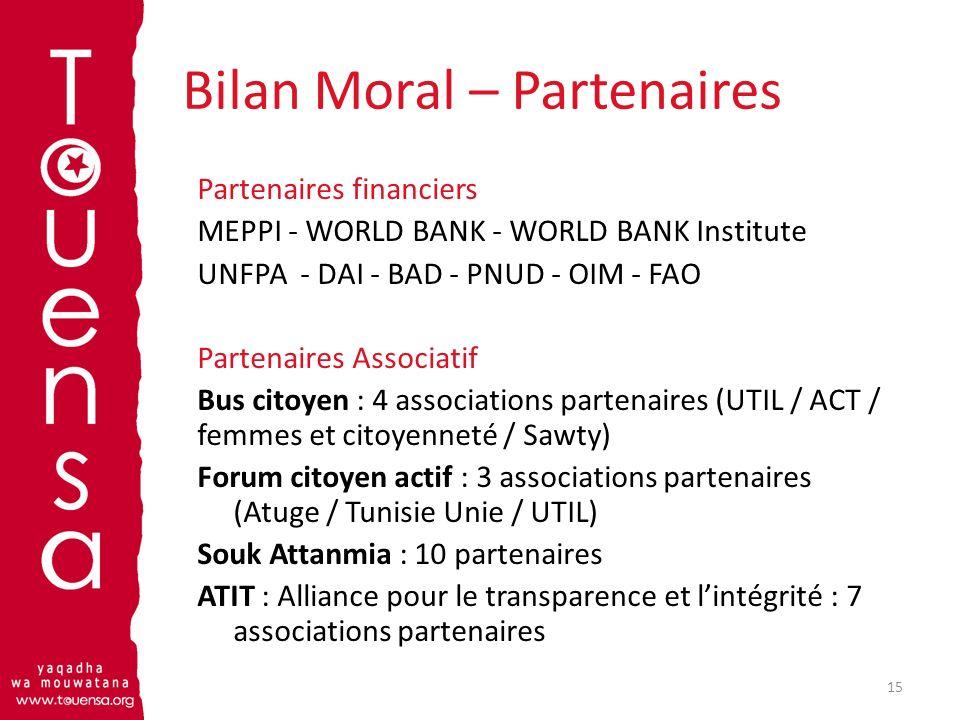 Bilan Moral – Partenaires