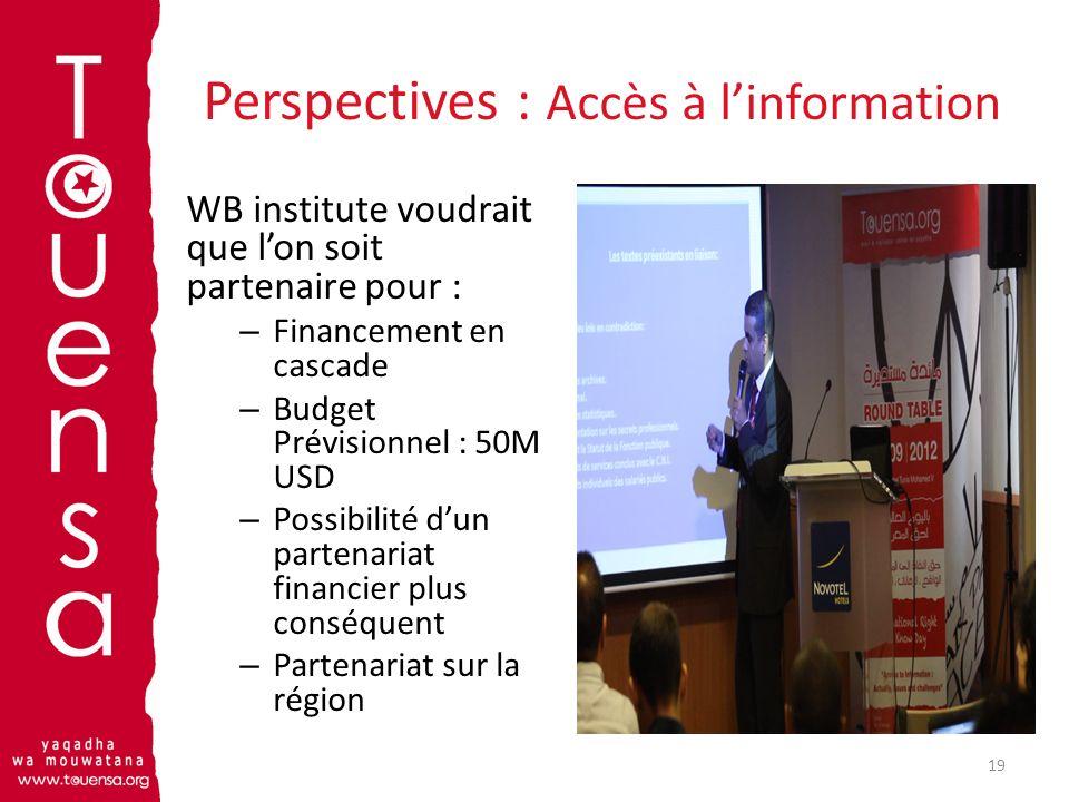 Perspectives : Accès à l'information