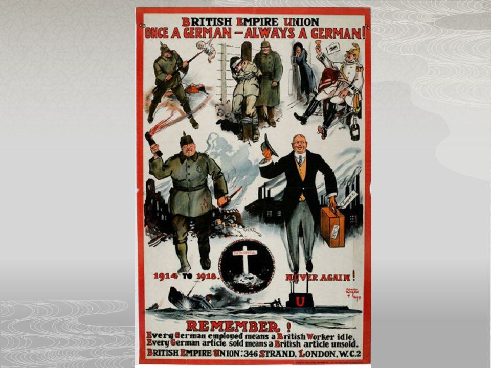 Affiche britanniques qui encouragaient des personnes de ne pas engager les allemands après la guerre
