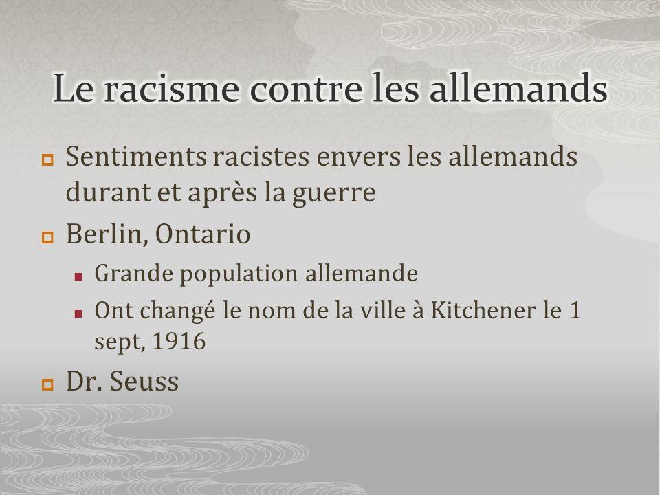 Le racisme contre les allemands