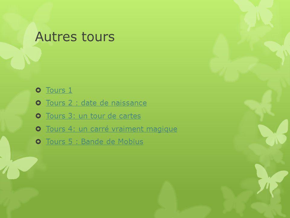 Autres tours Tours 1 Tours 2 : date de naissance