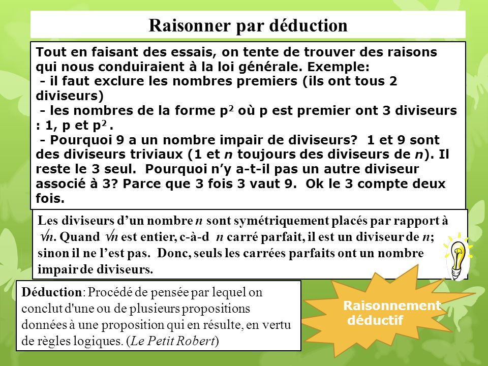 Raisonner par déduction