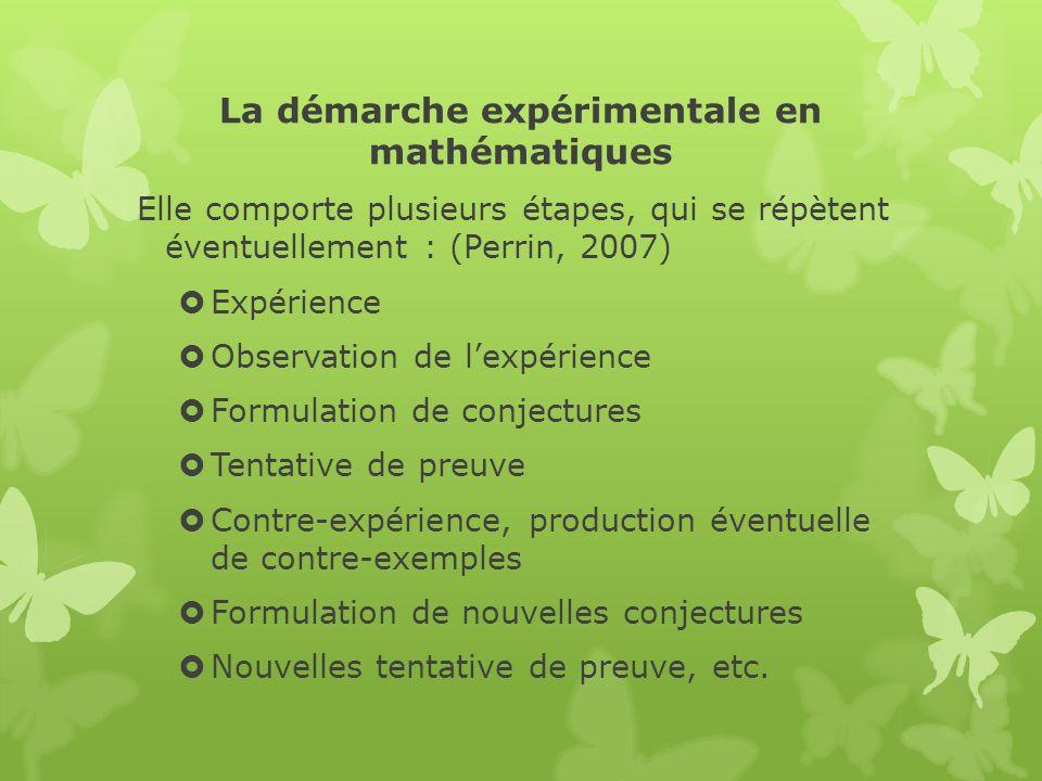 La démarche expérimentale en mathématiques